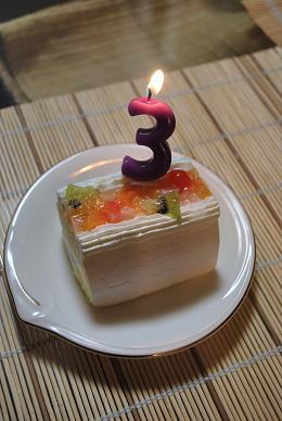 フルーツのロールケーキで。.JPG
