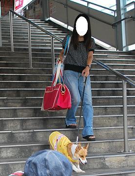 駅の階段を下りてくるのは….JPG