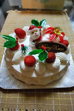 今年のクリスマスケーキ♪.JPG