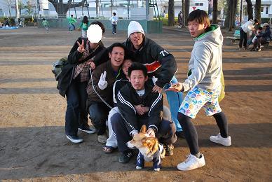 私もまめ太郎さんを連れて散歩。.JPG