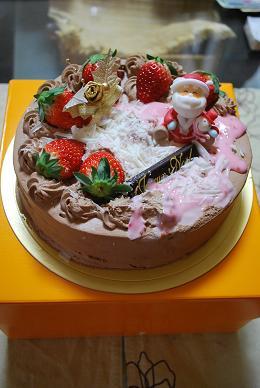 潰れたケーキでクリスマス。(笑).JPG
