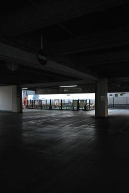駐車場の一角の明るい場所へ….JPG